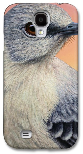 Animal Galaxy S4 Cases - Portrait of a Mockingbird Galaxy S4 Case by James W Johnson