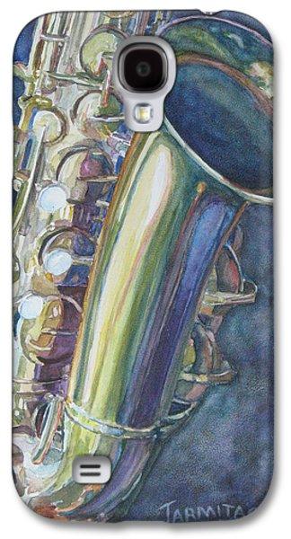 Portrait Of A Sax Galaxy S4 Case by Jenny Armitage