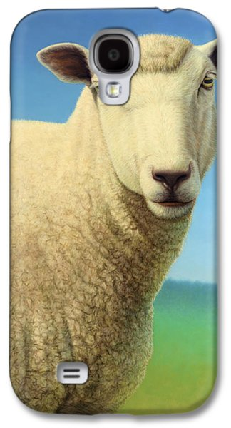 Domestic Galaxy S4 Cases - Portrait of a Sheep Galaxy S4 Case by James W Johnson