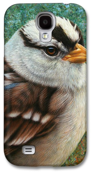 Nature Drawings Galaxy S4 Cases - Portrait of a Sparrow Galaxy S4 Case by James W Johnson