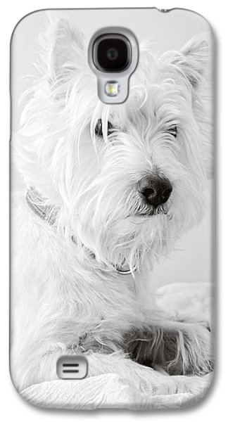 Cute Puppy Galaxy S4 Cases - Portrait of a Westie Galaxy S4 Case by Edward Fielding