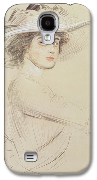 Drawing Galaxy S4 Cases - Portrait of a Woman Galaxy S4 Case by  Paul Cesar Helleu