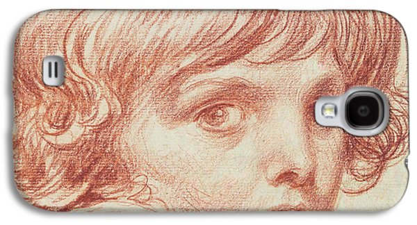 Portraits Pastels Galaxy S4 Cases - Portrait of a Young Boy Galaxy S4 Case by Claude Lorrain