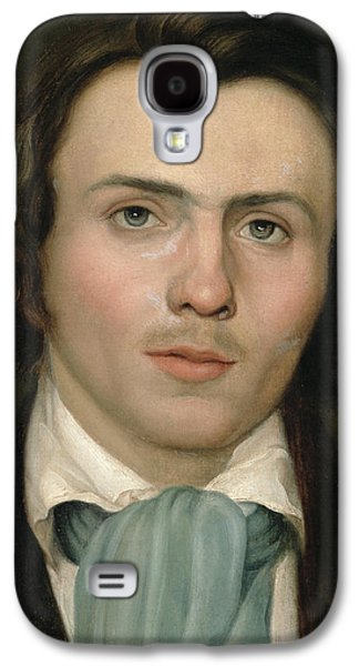 Young Man Galaxy S4 Cases - Portrait of a young man Galaxy S4 Case by Rudolph Friedrich Wasmann