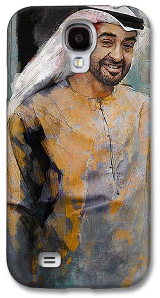 Rulers Galaxy S4 Cases - Portrait of Abdullah bin Zayed Al Nahyen 5 Galaxy S4 Case by Maryam Mughal