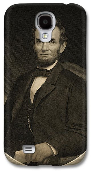 Recently Sold -  - Slavery Galaxy S4 Cases - Portrait of Abraham Lincoln Galaxy S4 Case by Celestial Images