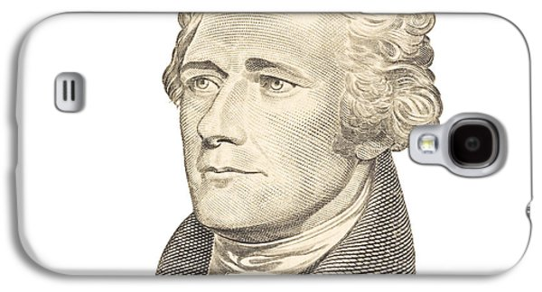 Finance Galaxy S4 Cases - Portrait of Alexander Hamilton on White Background Galaxy S4 Case by Keith Webber Jr