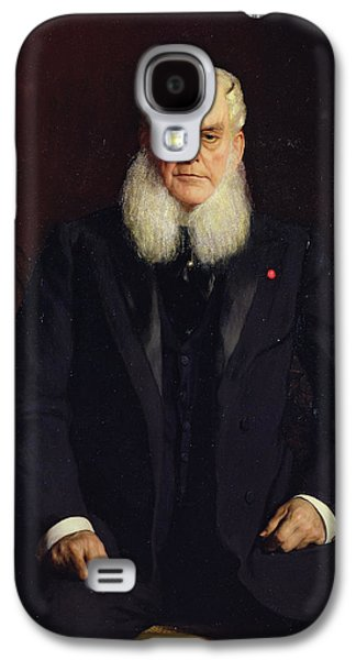 Sideburns Galaxy S4 Cases - Portrait Of Alfred Chauchard 1821-1909 1896 Oil On Canvas Galaxy S4 Case by Constant