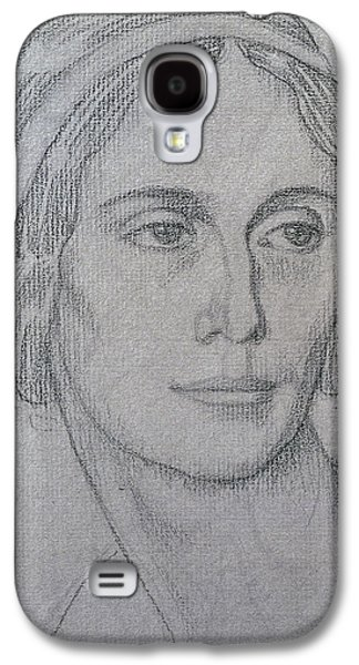 Girl Pastels Galaxy S4 Cases - Portrait of Anna Pavlova Galaxy S4 Case by Leon Bakst