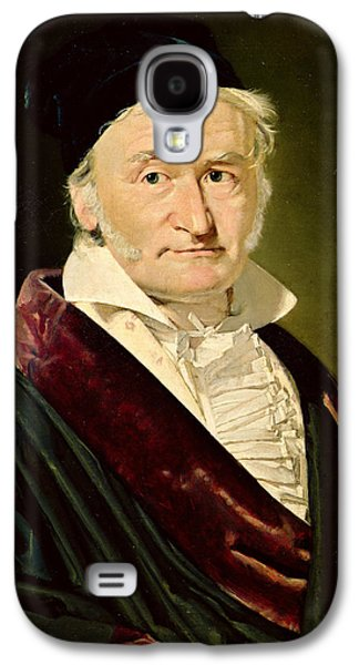 Sideburns Galaxy S4 Cases - Portrait Of Carl Friedrich Gauss, 1840 Oil On Canvas Galaxy S4 Case by Christian-Albrecht Jensen