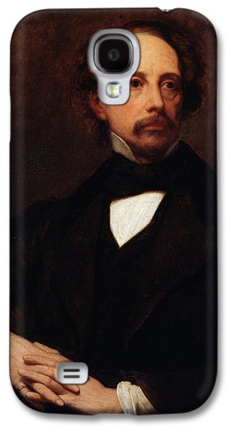 Social Galaxy S4 Cases - Portrait of Charles Dickens Galaxy S4 Case by Ary Scheffer
