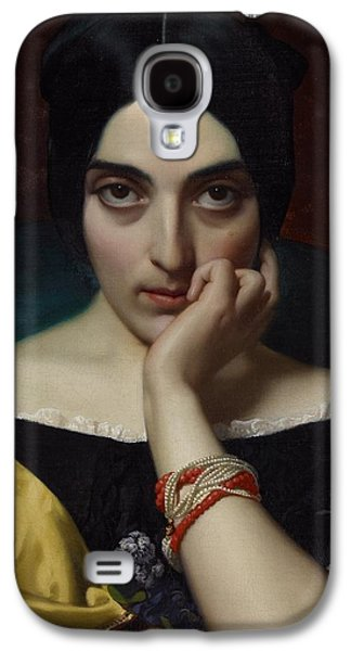 Alluring Paintings Galaxy S4 Cases - Portrait of Clementine Galaxy S4 Case by Henri Lehmann