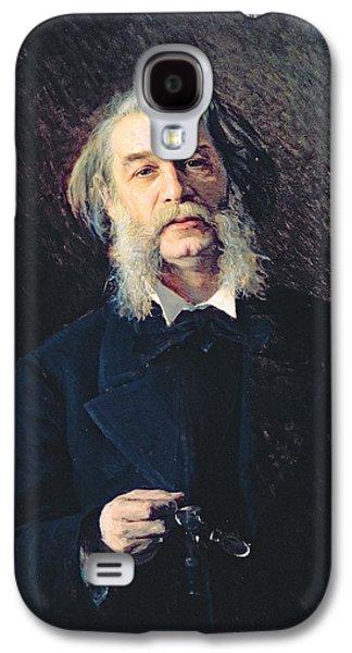 Sideburns Galaxy S4 Cases - Portrait Of Dmitri Vasilievich Grigorovich 1822-99, 1876 Oil On Canvas Galaxy S4 Case by Ivan Nikolaevich Kramskoy