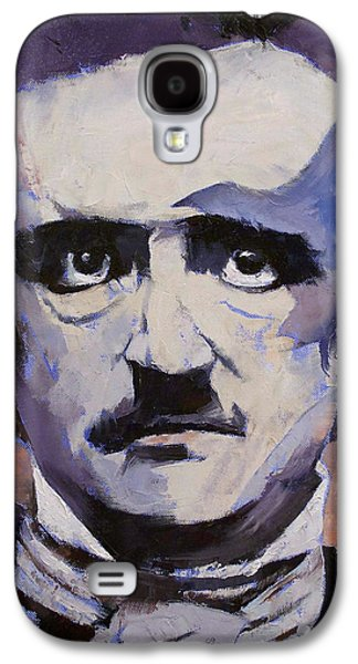 Crows Paintings Galaxy S4 Cases - Portrait of Edgar Allan Poe Galaxy S4 Case by Michael Creese