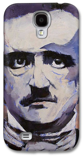 Surrealistic Paintings Galaxy S4 Cases - Edgar Allan Poe Galaxy S4 Case by Michael Creese