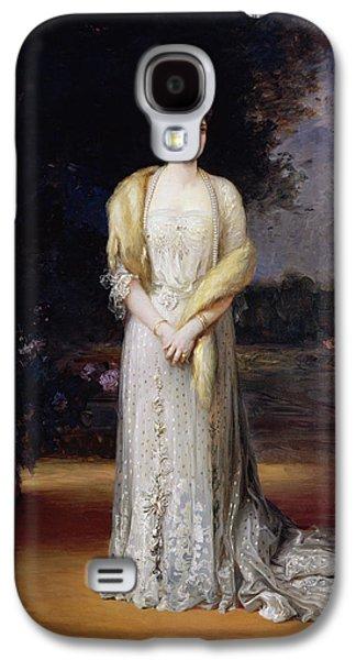 Full-length Portrait Galaxy S4 Cases - Portrait Of Empress Alexandra Fyodorovna, 1914 Oil On Canvas Galaxy S4 Case by Jakov Jakovlevich Veber