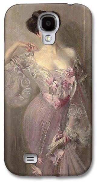 Alluring Paintings Galaxy S4 Cases - Portrait of Ena Wertheimer Galaxy S4 Case by Giovanni Boldini