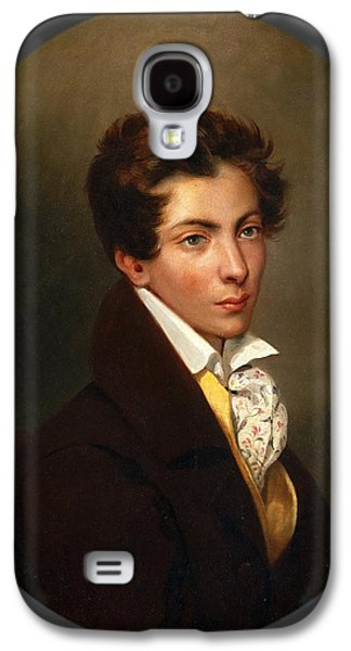 Delacroix Galaxy S4 Cases - Portrait of Eugene Berny dOuville Galaxy S4 Case by Eugene Delacroix