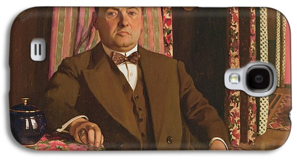 Connoisseur Galaxy S4 Cases - Portrait Of Georg E. Haasen, 1913 Oil On Canvas Galaxy S4 Case by Felix Edouard Vallotton