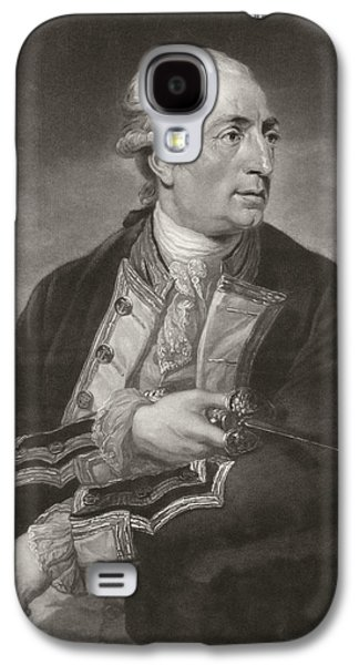 Historical Figures Galaxy S4 Cases - Portrait Of George Farmer Captain Galaxy S4 Case by Charles Grignion
