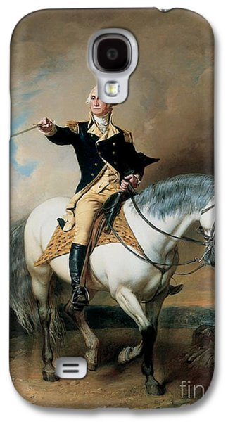 Politician Paintings Galaxy S4 Cases - Portrait of George Washington Taking The Salute At Trenton Galaxy S4 Case by John Faed