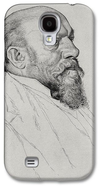 Austria Drawings Galaxy S4 Cases - Portrait of Hans Richter Galaxy S4 Case by William Strang