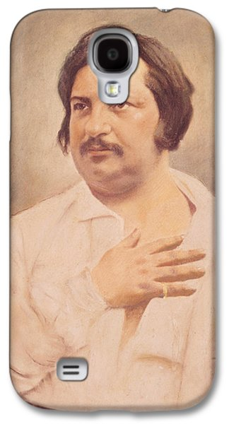 Novel Paintings Galaxy S4 Cases - Portrait of Honore de Balzac Galaxy S4 Case by French School