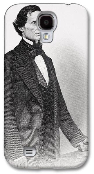 Three Quarter Length Galaxy S4 Cases - Portrait of Jefferson Davis Galaxy S4 Case by Mathew Bardy
