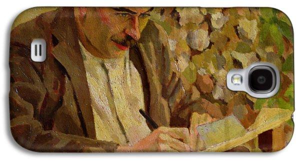 Cambridge Paintings Galaxy S4 Cases - Portrait Of John Maynard Keynes Galaxy S4 Case by Roger Eliot Fry