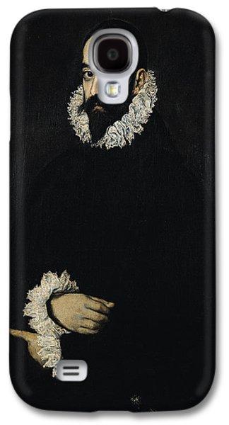 Caravaggio Galaxy S4 Cases - Portrait Of Juan Alfonso De Pimentel Y Herrera, 8th Conde De Benavente D.1621 Galaxy S4 Case by El Greco