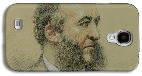 Sideburns Galaxy S4 Cases - Portrait of Jules Ferry Galaxy S4 Case by Paul Sarrut