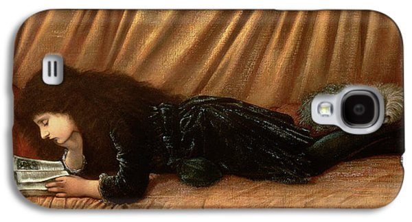Doggy Galaxy S4 Cases - Portrait Of Katie Lewis Galaxy S4 Case by Sir Edward Coley Burne-Jones