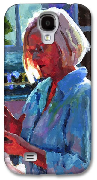 Cellphone Galaxy S4 Cases - Portrait of Kelly Galaxy S4 Case by Douglas Simonson