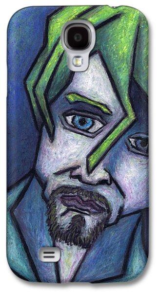 Person Pastels Galaxy S4 Cases - Portrait of Kurt Galaxy S4 Case by Kamil Swiatek