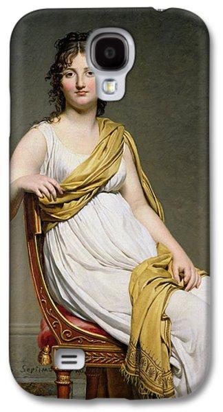 Delacroix Galaxy S4 Cases - Portrait Of Madame Raymond De Verninac 1780-1827 1798-99 Oil On Canvas Galaxy S4 Case by Jacques Louis David