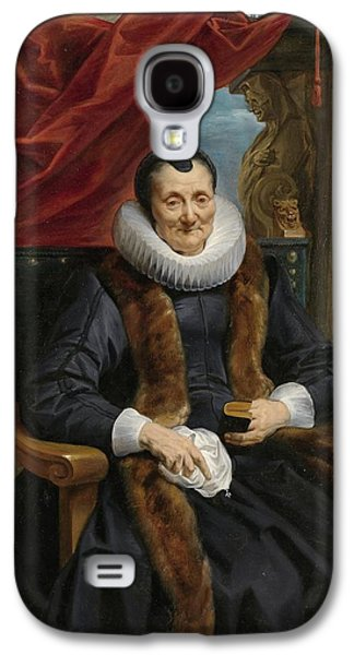 1636 Paintings Galaxy S4 Cases - Portrait of Magdalena de Cuyper Galaxy S4 Case by Jacob Jordaens