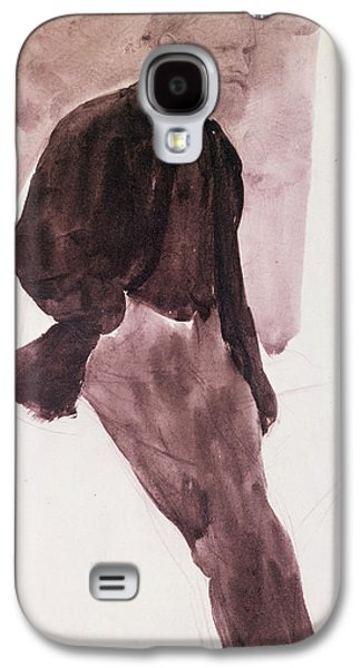 Impressionism Pastels Galaxy S4 Cases - Portrait of Manet Galaxy S4 Case by Edgar Degas