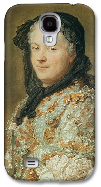 Half-length Galaxy S4 Cases - Portrait Of Maria Leszczynska, Queen Of France And Navarre, 1744-48 Pastel Galaxy S4 Case by Maurice Quentin de la Tour