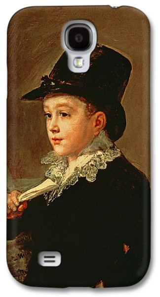 Sheet Galaxy S4 Cases - Portrait Of Marianito Goya, Grandson Of The Artist, C.1815 Oil On Canvas Galaxy S4 Case by Francisco Jose de Goya y Lucientes