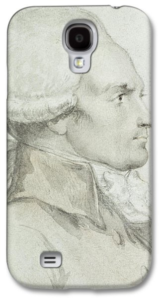 Historical Figures Galaxy S4 Cases - Portrait of Maximilien de Robespierre Galaxy S4 Case by Jean Michel the Younger Moreau
