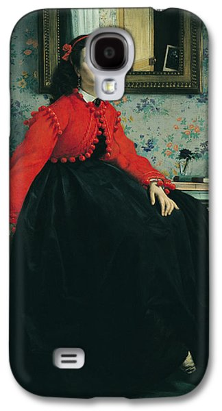 Victorian Photographs Galaxy S4 Cases - Portrait Of Mlle. L.l. Young Lady In A Red Jacket 1864 Oil On Canvas Galaxy S4 Case by James Jacques Joseph Tissot