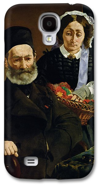 Sombre Galaxy S4 Cases - Portrait Of Monsieur And Madame Auguste Manet, 1860 Oil On Canvas Galaxy S4 Case by Edouard Manet