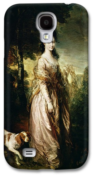 Wife Galaxy S4 Cases - Portrait Of Mrs. Lowndes-stone 1758-1837 C.1775 Oil On Canvas Galaxy S4 Case by Thomas Gainsborough