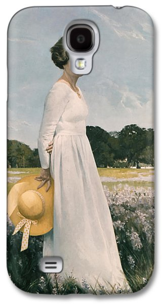 First Lady Paintings Galaxy S4 Cases - Portrait of Mrs Lyndon B Johnson Galaxy S4 Case by Mountain Dreams
