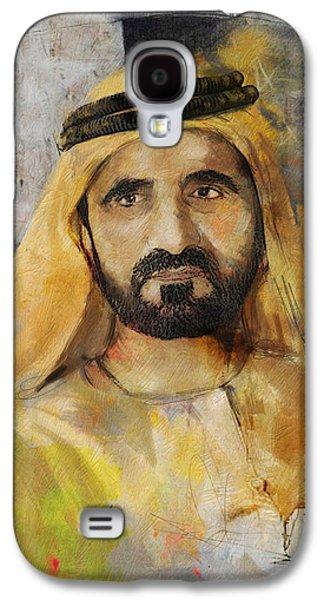 Rulers Galaxy S4 Cases - Portrait of Muhammad bin Rashid al Maktoum Galaxy S4 Case by Maryam Mughal