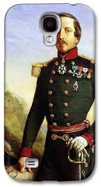 Three Quarter Length Galaxy S4 Cases - Portrait Of Napoleon Iii 1808-73 1852 Oil On Canvas Detail Galaxy S4 Case by Felix Francois Barthelemy Genaille