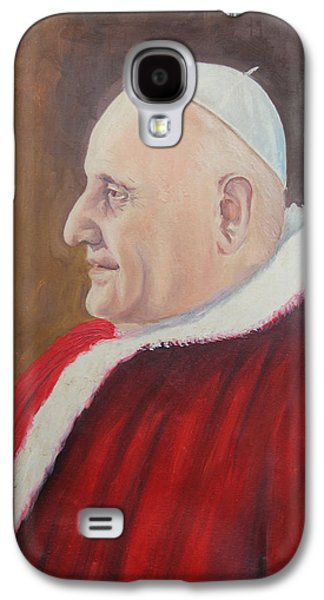 Spirituality Galaxy S4 Cases - Portrait of Pope John XXIII - Papa Giovanni XXIII Galaxy S4 Case by Mario Zampedroni