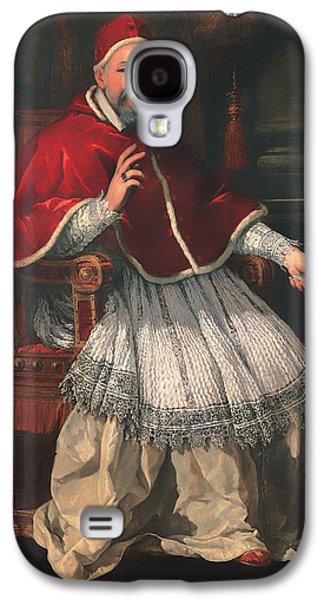 Christian work Paintings Galaxy S4 Cases - Portrait of Pope Urban VIII Galaxy S4 Case by Pietro da Cortona