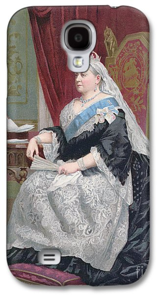 1819-1901 Galaxy S4 Cases - Portrait of Queen Victoria Galaxy S4 Case by English School