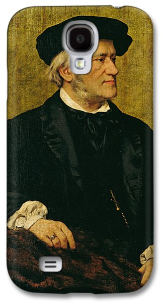 Sideburns Galaxy S4 Cases - Portrait of Richard Wagner Galaxy S4 Case by Giuseppe Tivoli